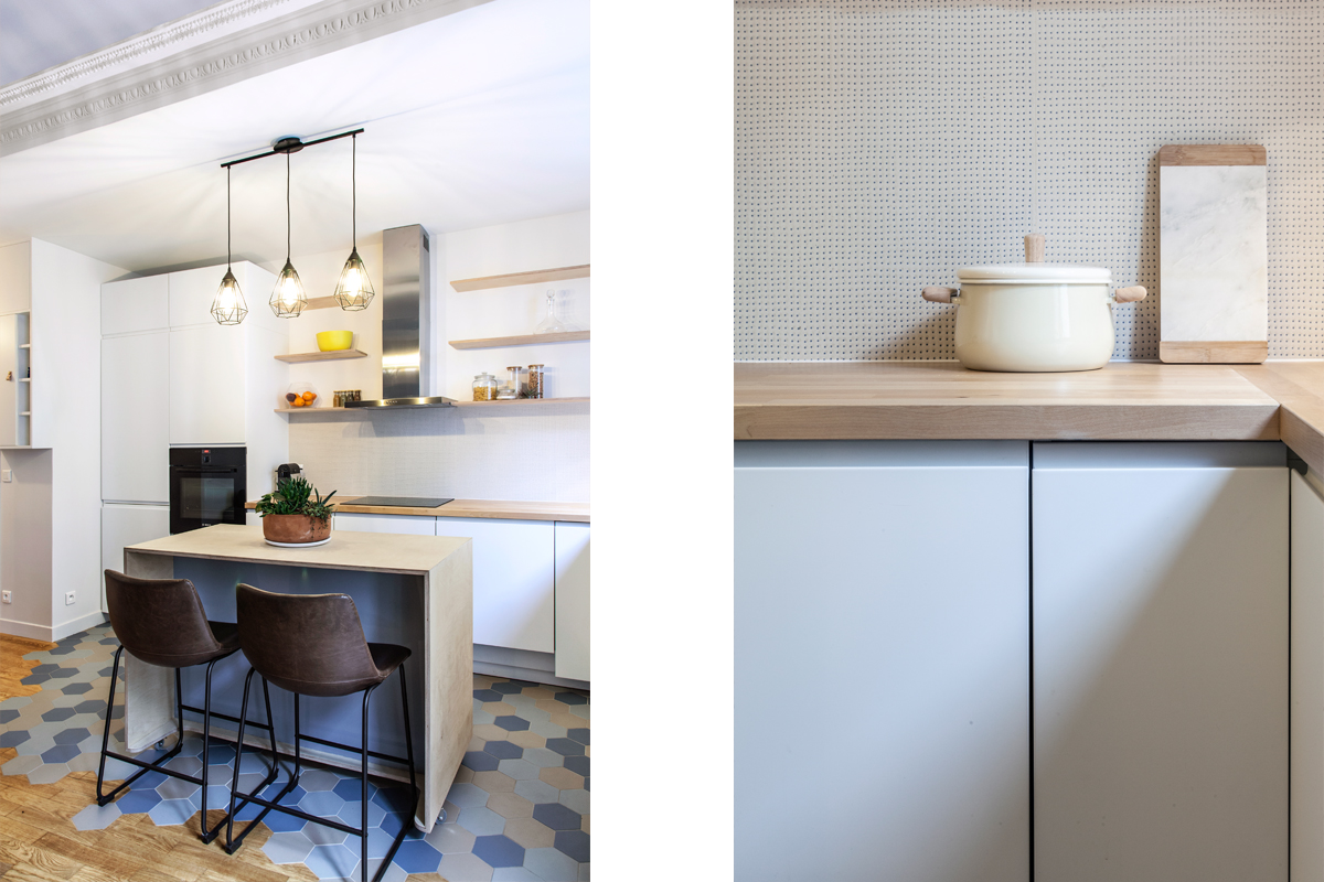 ban architecture intérieur contemporain jeune couple paris 10