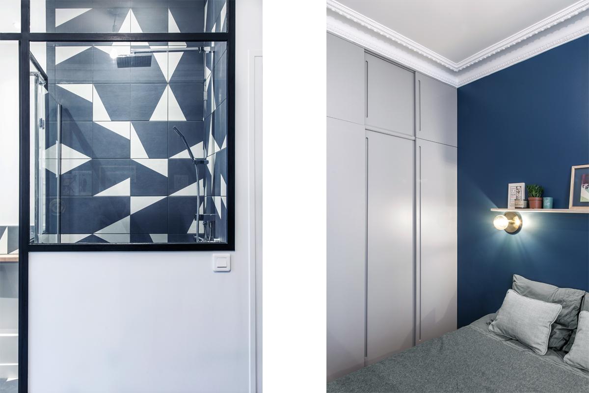 ban architecture intérieur contemporain jeune couple paris 16