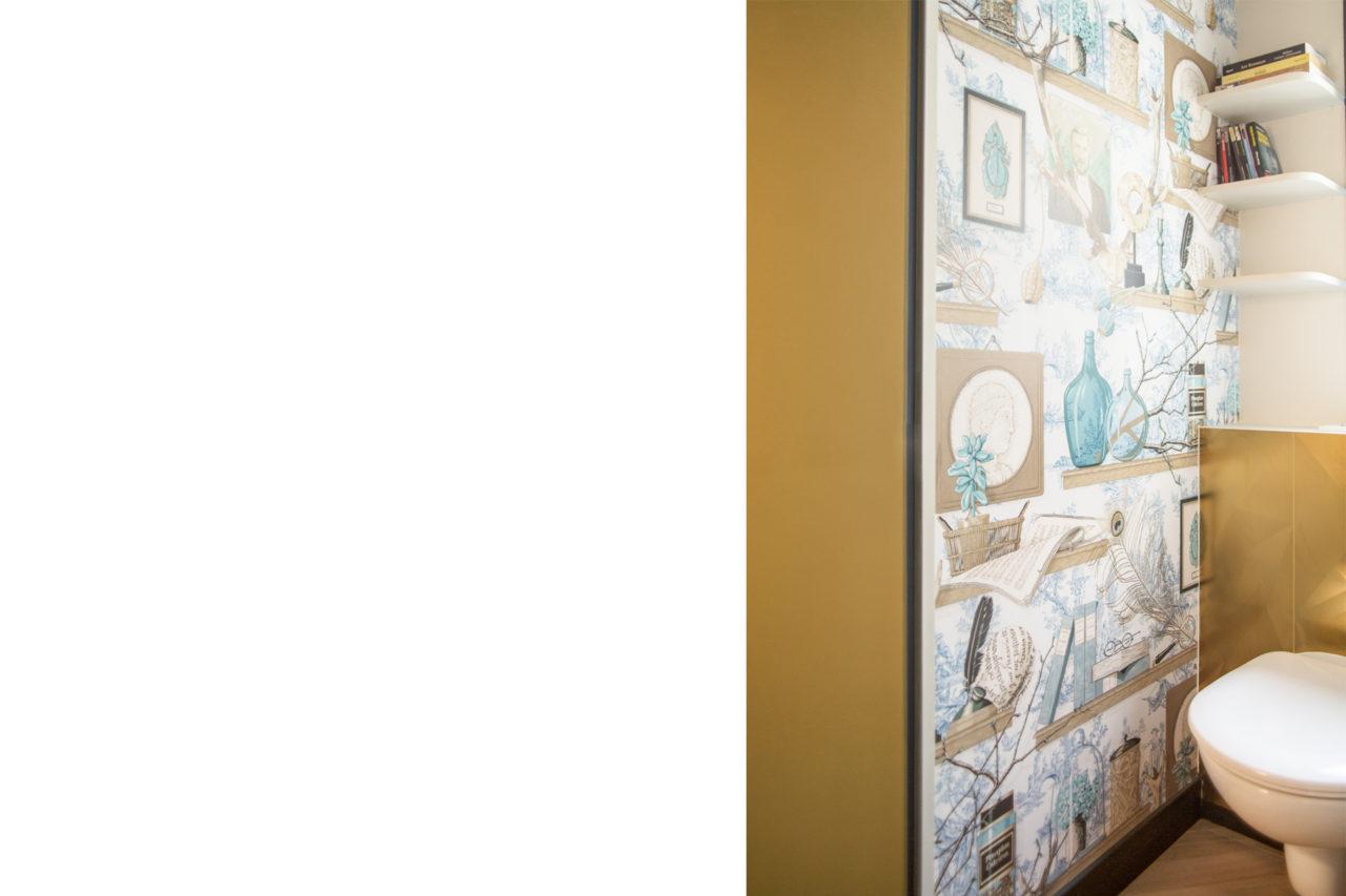 ban architecture renovation appartement paris interieur haussmannien combles comble or laiton grands boulevards 111