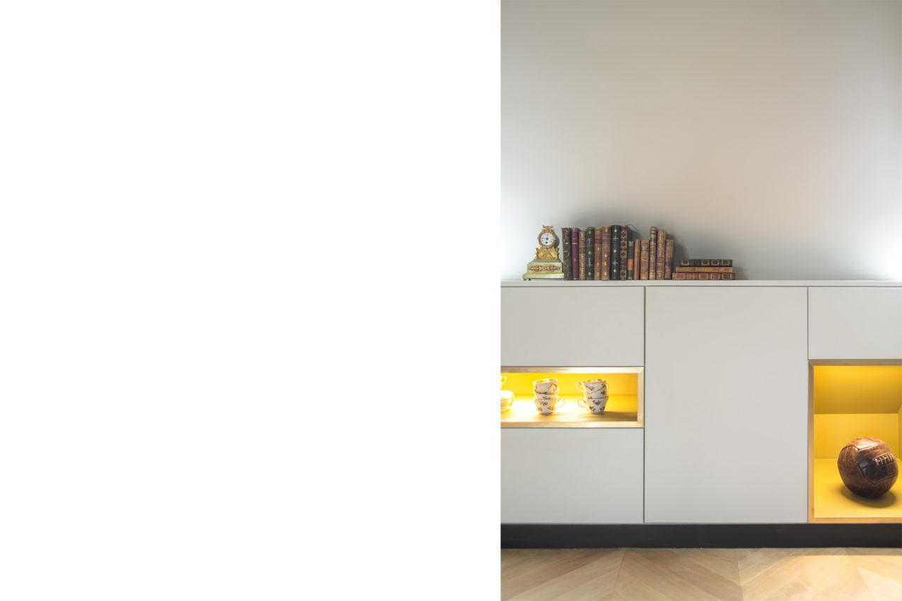 ban architecture renovation appartement paris interieur haussmannien combles comble or laiton grands boulevards 22