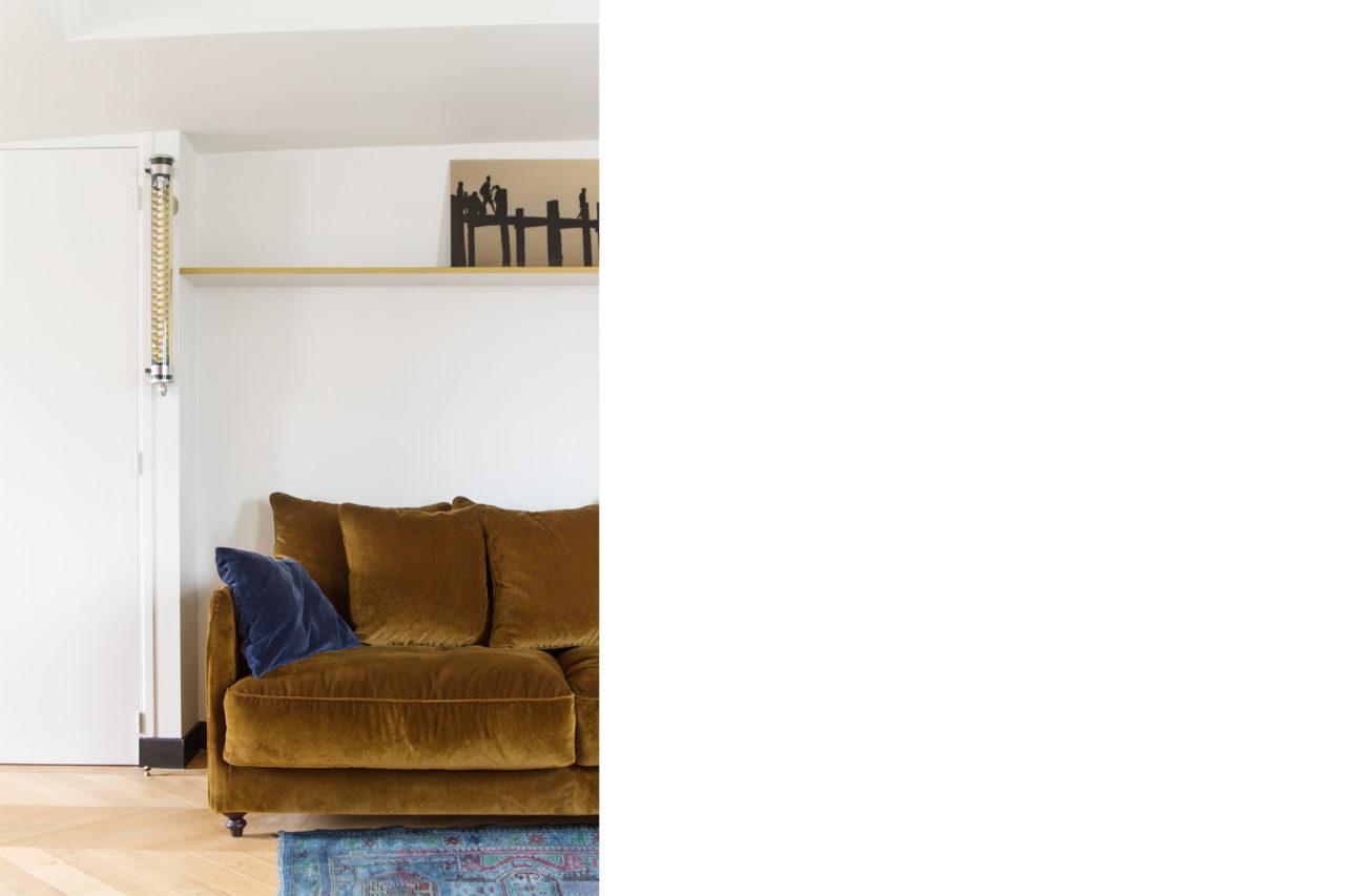 ban architecture renovation appartement paris interieur haussmannien combles comble or laiton grands boulevards 77