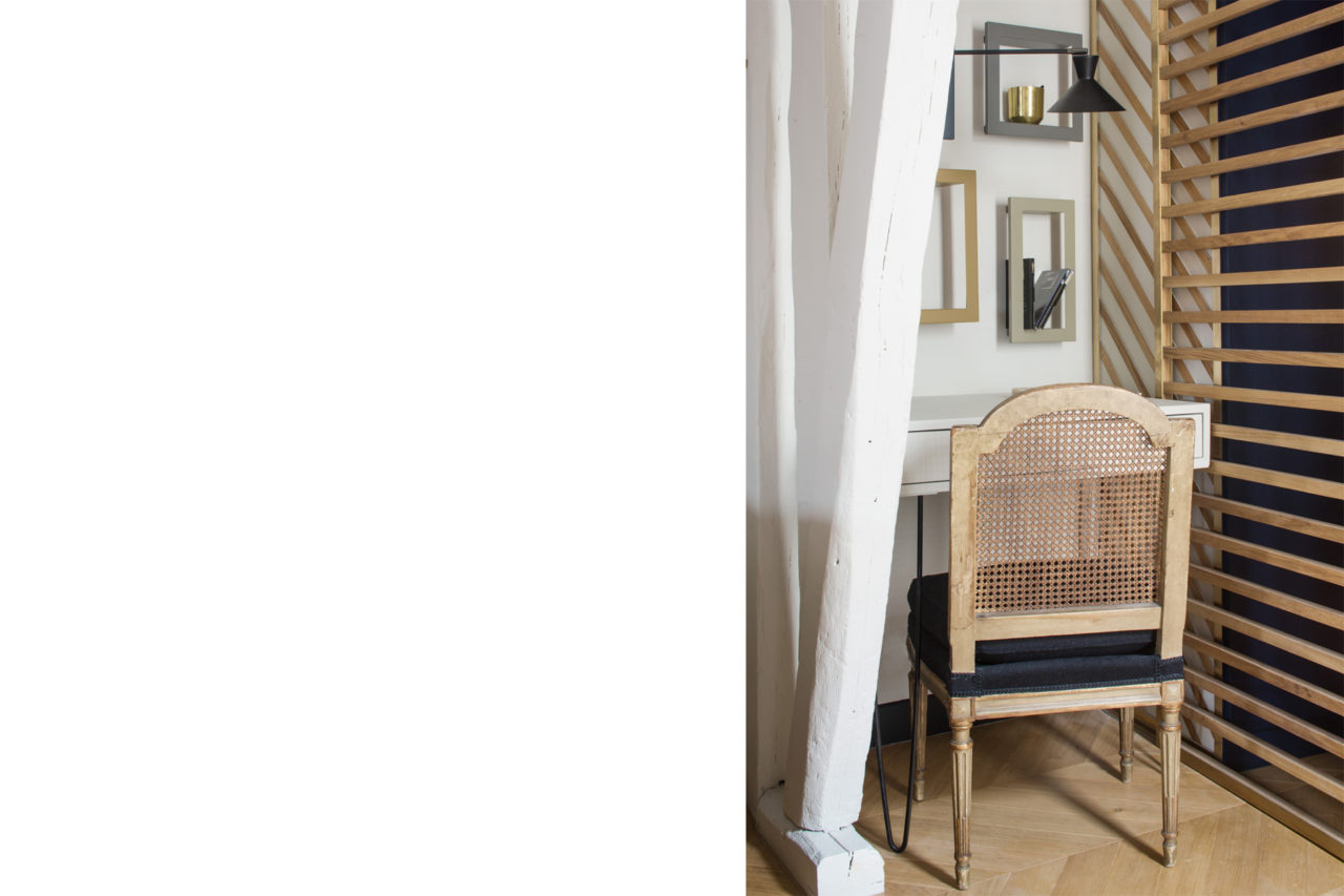 ban architecture renovation appartement paris interieur haussmannien combles comble or laiton grands boulevards 99