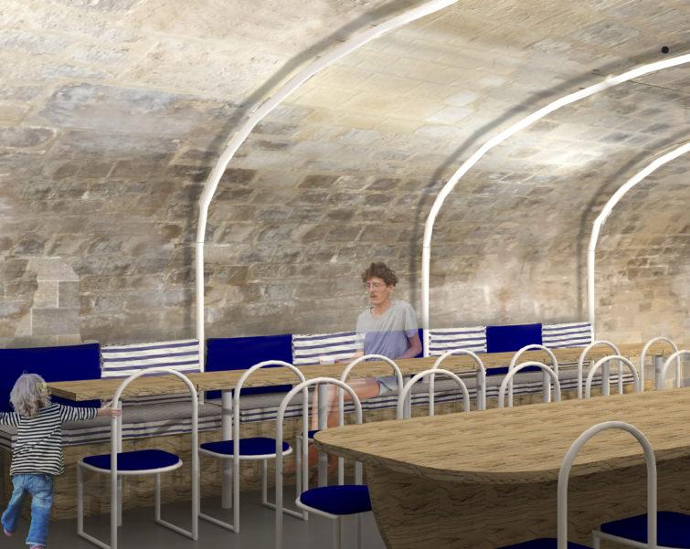 ban architecture architecte rehablitation pierre patrimoine restaurant creperie restauration paris jardin tuileries musee louvre 3