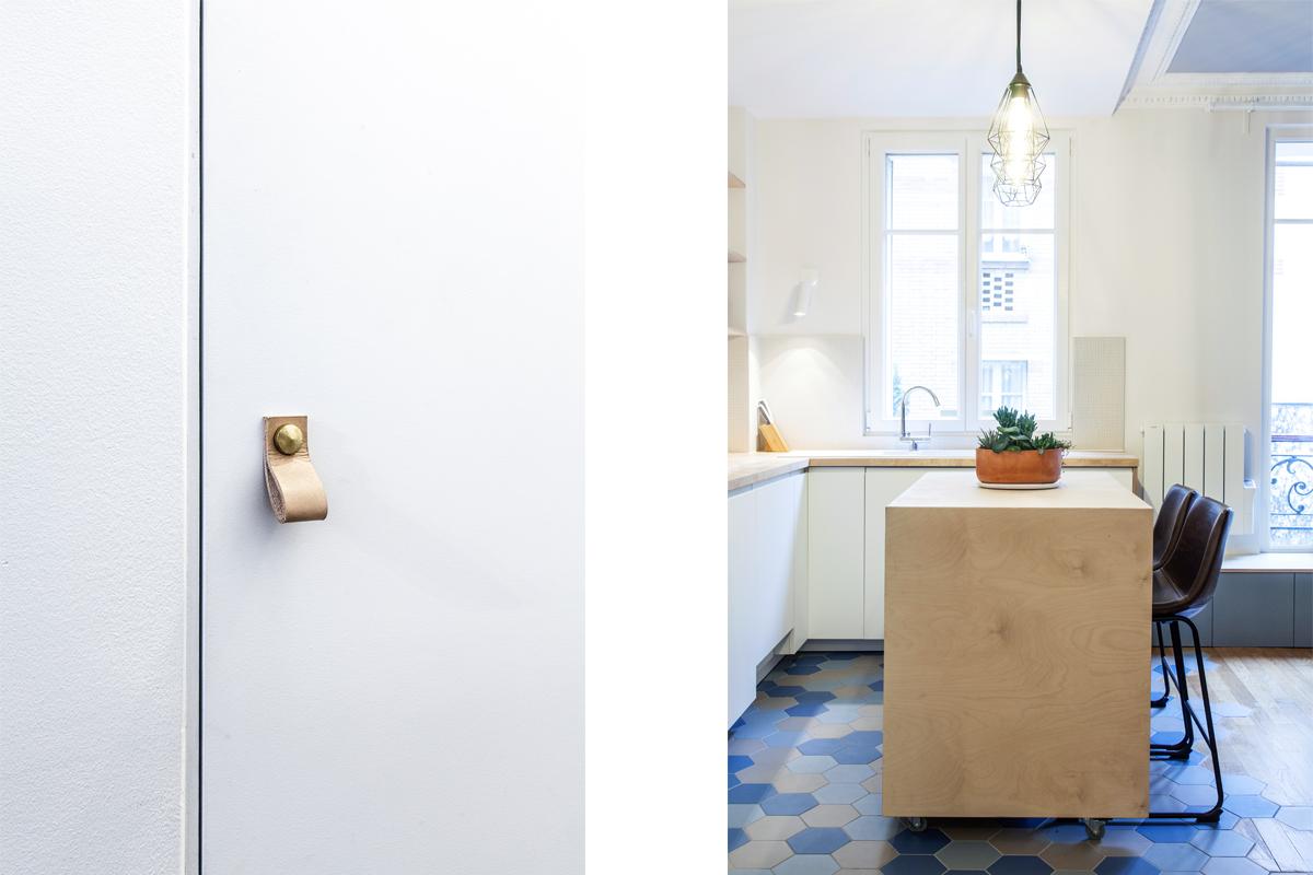 ban architecture intérieur contemporain jeune couple paris 11