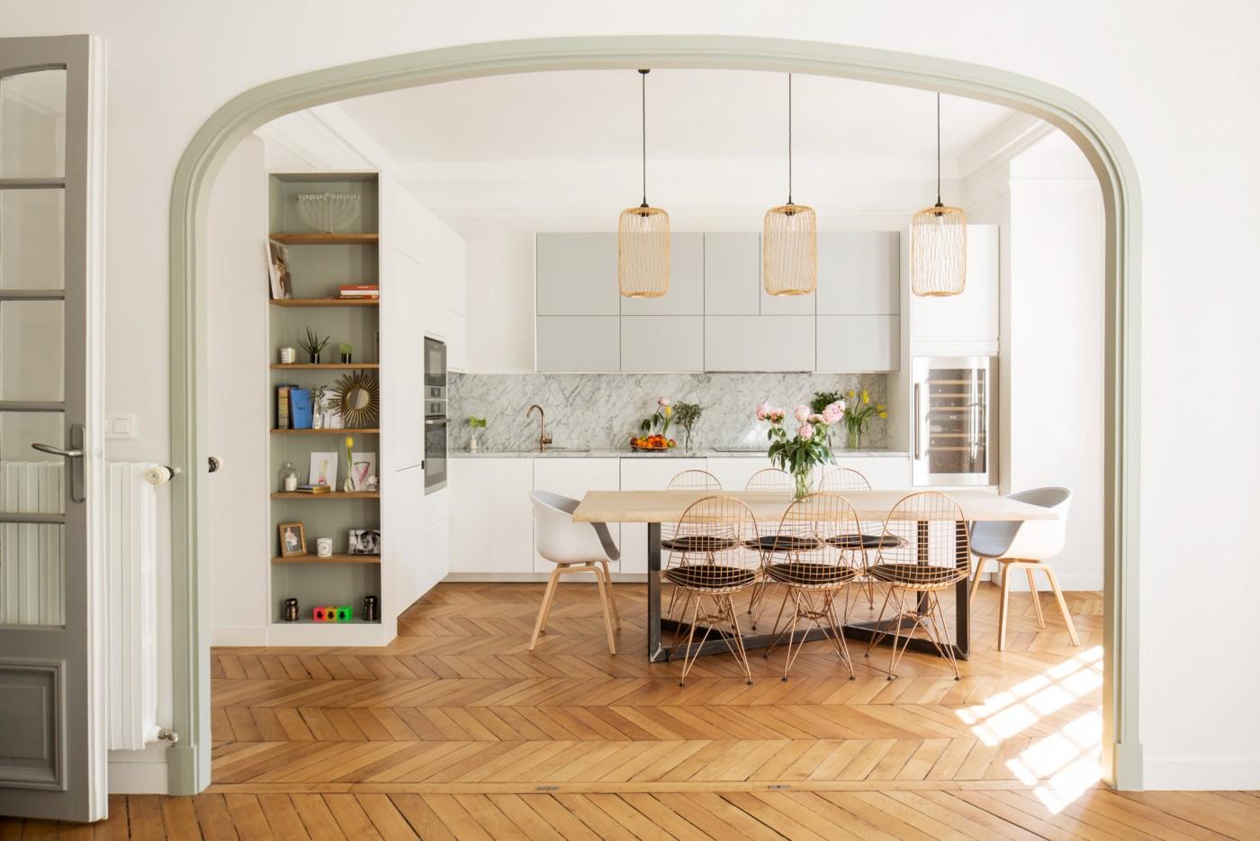 ban architecture rénovation appartement paris haussmannien lumineux ternes 1