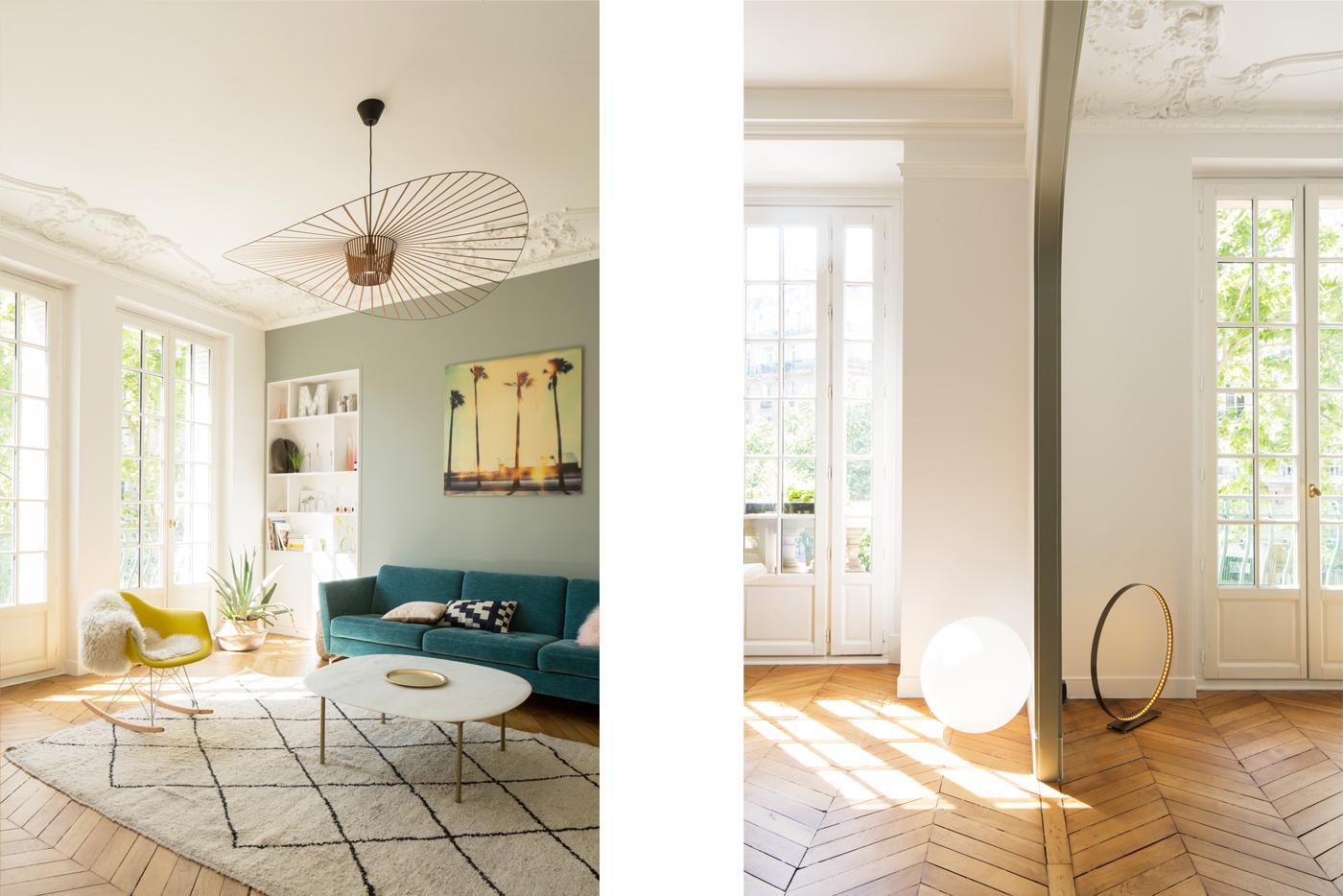 ban architecture rénovation appartement paris haussmannien lumineux ternes 6