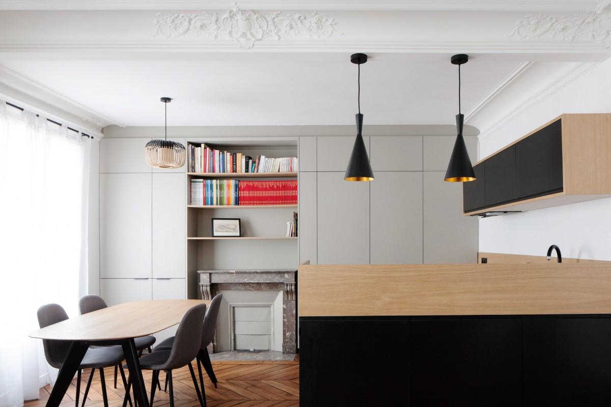 ban architecture renovation appartement paris haussmannien art nouveau interieur pigalle 105
