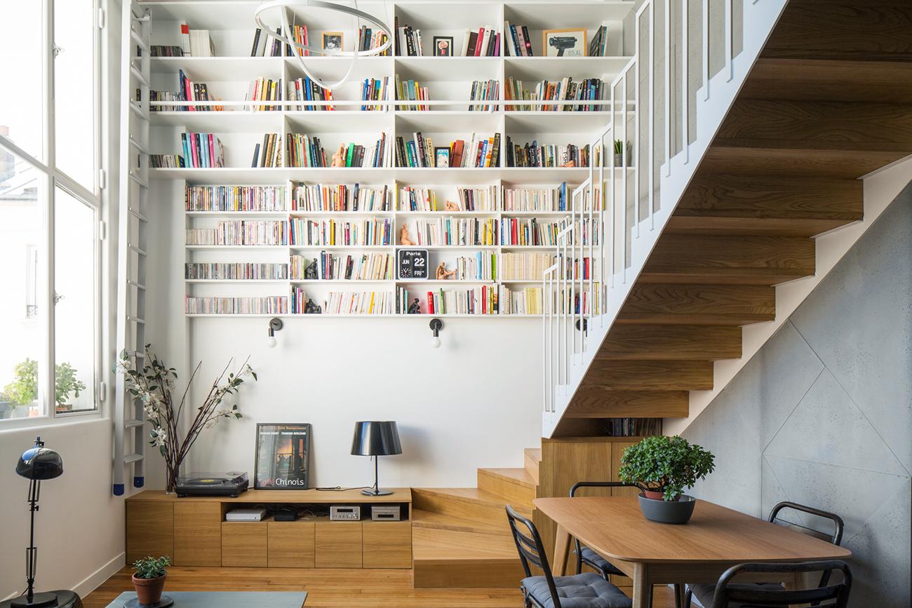 ban architecture renovation appartement paris interieur duplex beton denfert rochereau 1