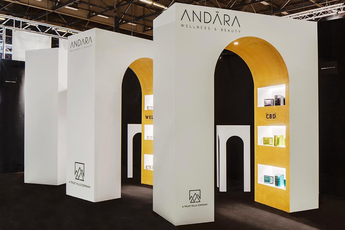 ban architecture maison et objet andara stand cosmetique cosmetiques projet arche présentoir 0