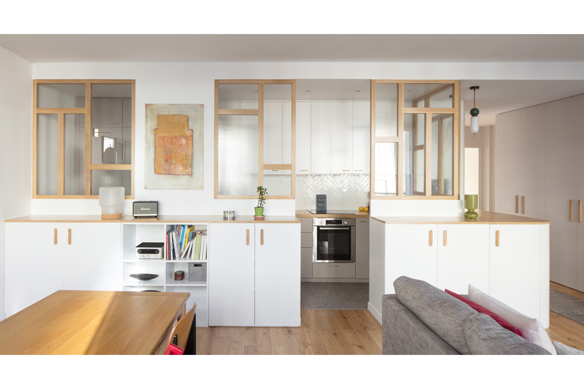 ban architecture appartement renovation paris au naturel terrazzo blanc beige greige gris architecture interieur design 2